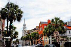 Charleston, South Carolina - Downtown - Palmetto - Charleston Photography - Landscape Photography - 8x10 Photo. $20.00, via Etsy.