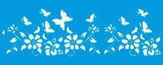 Resultado de imagem para stencil de flores