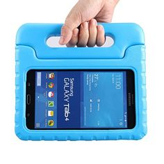 Samsung Galaxy Tab 4 7.0 Kids Case - BMOUO EVA ShockProof Case Light Weight Kids Case Super Protection Cover Handle Stand Case for Kids Children for Samsung Galaxy Tab4 7-inch Tablet - Blue Color