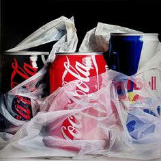 Red Bull, Coca Cola Photorealistic Oil Paintings by Pedro Campos (yes ... Oil Paintings)