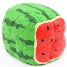cute watermelon bread loaf squishy kawaii Joey Squishy