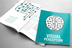 """In this project I used narrative design to create the layout for Daniel Chandler's """"Visual Perception"""" book. The design reflects the ideas in the text about visual perception, about seeing and about """"tricks of the eye"""". Creative Industries, Student Work, Perception, Illusions, Reflection, Books, Projects, University, Behance"""
