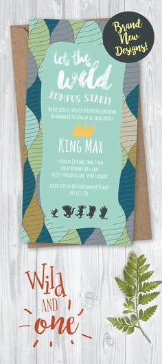 Wild and One! These cheeky new Where the Wild Things are inspired invitations are online now!