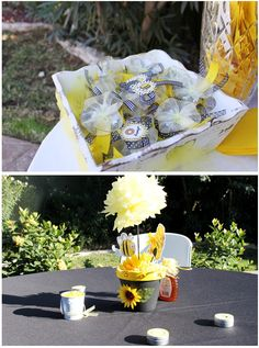 Bird's Party Blog: Honey Bee Baby Shower and a Link Party!!