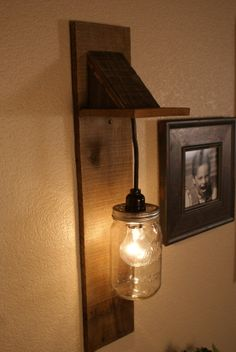 Mason Jar Chandelier Wall Mount Fixture