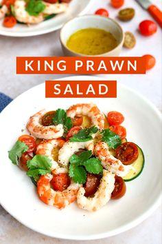 Quick Recipes, Healthy Recipes, Prawn Salad, Cilantro, Recipe Cover, Grilled Zucchini, Summer Dishes, Seasonal Food, Spring Recipes