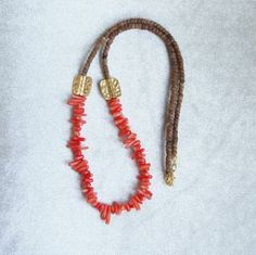 Coco Necklace, Coral Necklace, Necklace by Charmbyia for $40.00