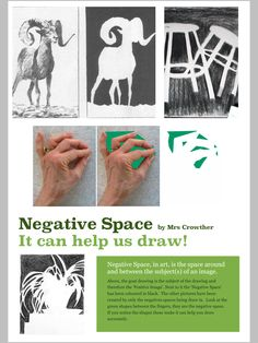 Looking at Negative Space to teach drawing. L