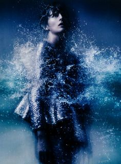 """""""Gale-Force Winds, Up to 80 Mph, Freak Rain, Widespread Flooding"""" Stella Tennant photographed by Sølve Sundsbø for i-D 2012 #editorial"""