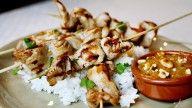 kyllingspyd med peanøttsaus