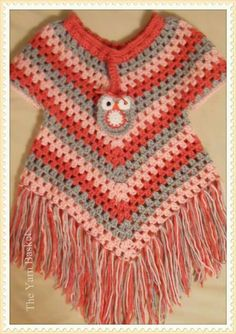 Best 12 Poncho sweater Crochet pattern by Addicted 2 The Hook – SkillOfKing. Crochet Poncho With Sleeves, Crochet Baby Poncho, Plaid Crochet, Crochet Cardigan Pattern, Baby Girl Crochet, Crochet Blouse, Crochet Patterns, Kids Poncho, Crochet Clothes