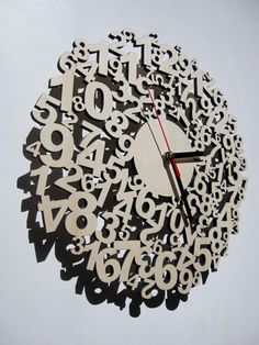 Confusing times wooden laser cut clock by CreativeUseofTech, €69,00