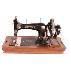 I pinned this Vintage Gritzner Sewing Machine from the Select Vintages event at Joss and Main!