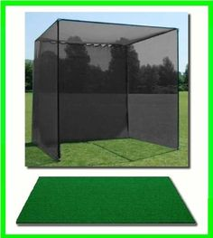 Golf Mat, Golf Net Cage, 10'x10'x10 Golf Net Golf Cage and 4'x5' Residential Golf Mat. Our Dura-Pro 10'(d) x 10'(h) x10'(w) Golf Cage Golf Net Comes With High Velocity Strong Impact Golf Netting and a High Impact Double Back Stop and Target Plus a 4' X 5' Residential Golf Mat Free Ball Tray/Balls/Tees/60 Min. Full Swing Training DVD/Impact Decals & Correction Guide With Every Order! Please Note This is a Commercial Grade Golf Cage With a Residential Golf Hitting Mat.