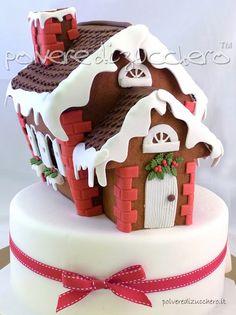 Tutorial Kuchen mit Lebkuchenhaus