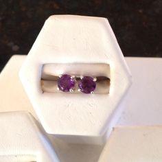 Cristo Gems & Jewelry New 6mm Amethyst Earrings 1.43 ct tw sterling silver  February Birthstone Jewelry Earrings
