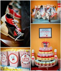 Bowling Themed Birthday Party with Lots of FUN Ideas via Kara's Party Ideas Kara'sPartyIdeas.com