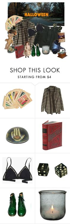 """""""Spooky Halloween """" by abbykrysta ❤ liked on Polyvore featuring Brandy Melville, Jayson Home, DK, Levi's, Madewell, Dr. Martens and vintage"""