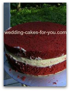 red velvet cake with cream cheese filling: Question: how to fill cakes with cream cheese frosting