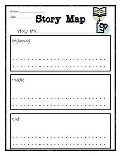 Students can use this story map to plan out their stories. They can write what happens in the beginning, middle and end of the story, and create il...