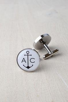 Amore gemelli ancoraggio / argento regalo ricordo di nozze / Mens dapper accessori