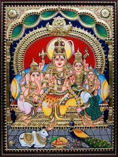Mural Painting, Fabric Painting, Diy Painting, Mysore Painting, Tanjore Painting, Shiva Art, Hindu Art, Shiva Shakti, Om Namah Shivaya
