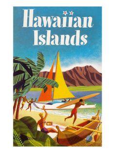 Hawaiian Islands Poster Art Print at AllPosters.com
