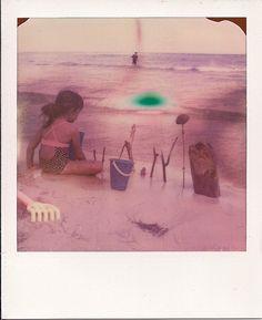 Andrea's day in the beach  Polaroid shot
