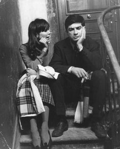 Anna Karina and Jean-Claude Brialy on the set of Une femme est une femme, 1961.