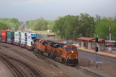 Belen, NM A BNSF Intermodal train grinds into West Belen Jct as it heads for the eastbound fuel pad in Belen, NM. Photo by Bnsf Railway, Burlington Northern, Land Of Enchantment, Santa Fe, Super Cars, Diesel, Electric, Yard, Train