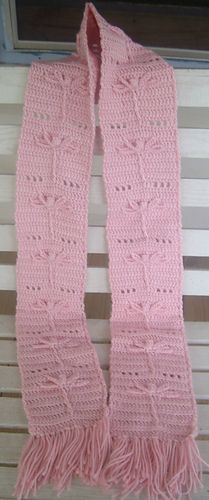 Dragonfly scarf crochet pattern