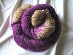 ♥ Sockenwolle 4fach/100g ♥ Handgefärbt ♥ Made by Aleinung ♥ (006)