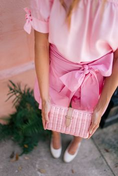 Gal Meets Glam J.Crew Pink - J.Crew top, shorts, wedges & clutch