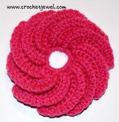 How to Crochet a Spiral Flower