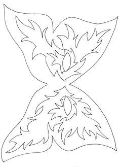 Masques de papillon 3 à colorier