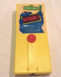 Vintage Fisher Price Movie Viewer Sesame Street Alphabet Cartridge #489 #FisherPrice