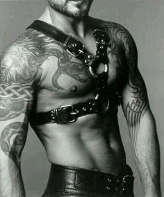 """Sir Viper."" Muscle sleeves. Tattoos, body art."