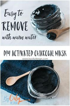 How to make a DIY charcoal mask. Easy DIY Activated Charcoal mask. Non Peel Charcoal mask that is gentle and exfoliates skin. DIY charcoal mask benefits. Charcoal mask recipe with Essential Oils. byoilydesign.com #AvocadoFaceMaskRecipe Activated Charcoal Mask, Charcoal Mask Benefits, Charcoal Mask Peel, Homemade Charcoal Mask, Charcoal For Skin, Charcoal Face Scrub, Homemade Face Masks, Diy Face Mask, Diy Peeling