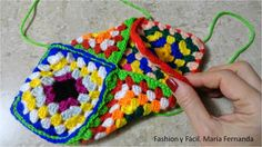 Crochet Blanket Patterns, Baby Patterns, Knitting Stitches, Knitting Socks, Crochet Granny, Free Crochet, Como Fazer Short, Sunburst Granny Square, Crochet Baby Bonnet