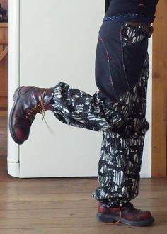 Handmade Einzelstück Hose Alternativ Metal Hose, Rockabilly, Unisex, Punk Rock, Harem Pants, Heels, Boots, Fashion, Trousers