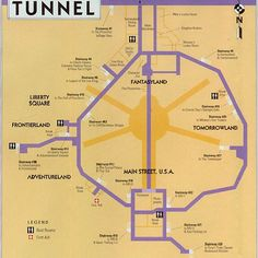 Everybody knows Walt Disney World has underground tunnels called Utilidors, which are used for cast members to get around without being seen by guests. But have you ever seen a map of them?