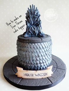 How to make a Game of Thrones' Iron Throne cake topper.