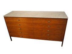 Dresser with Marble Top by Paul McCobb for Calvin Group