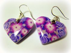 Polymer Clay Millefiori Earrings by me