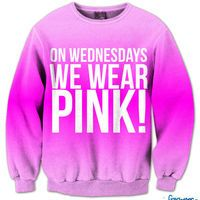 On Wednesday's We Wear Pink Fresh Top Crew Neck | fresh-tops.com: totally watching this movie right now...