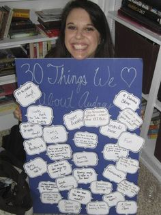 Thirty Things 30th Birthday Party Poster