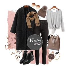 """""""Winter style"""" by dobsdobs ❤ liked on Polyvore featuring Rothko, WithChic, RUSKIN, Simons, Hermès, Olivia Burton, Marc by Marc Jacobs and Linda Farrow"""