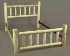 Rustic Slat Bed Size: Double Rustic Natural Cedar Furniture