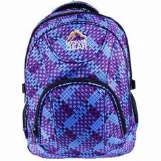 Purple / Blue Backpack Rucksack Ladies Womens Girls School Bag School Bags For Girls, Designer Backpacks, Rucksack Backpack, Outdoor Gear, Shopping Bag, Purple, Blue, Zip, Lady