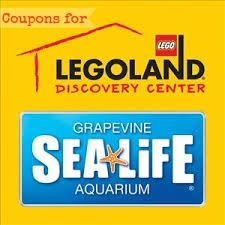 Savings codes and coupons for Legoland and Sealife in Grapevine, TX